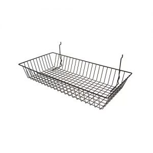24W-12D-4H Shallow Basket black