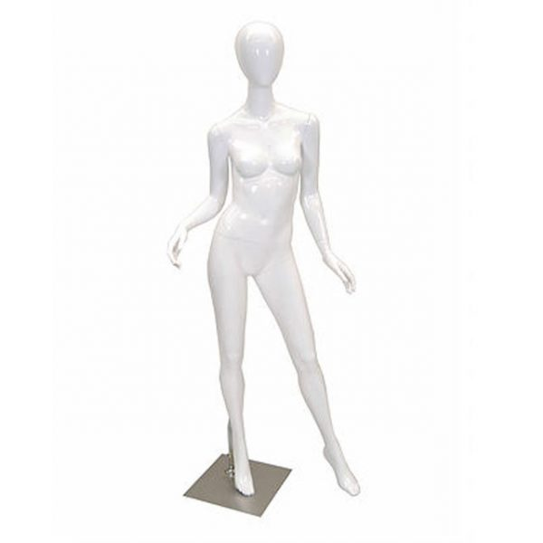 Glossy white mannequin