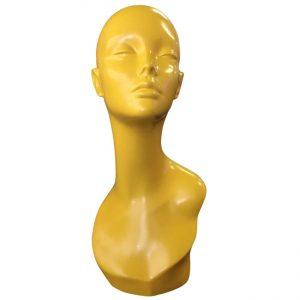 yellow head female mannequin