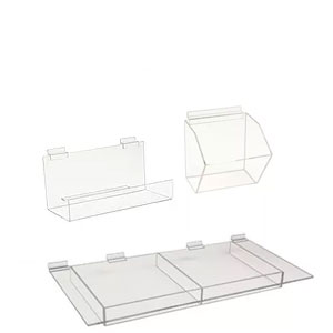 Acrylic Shelves, Trays & Bins
