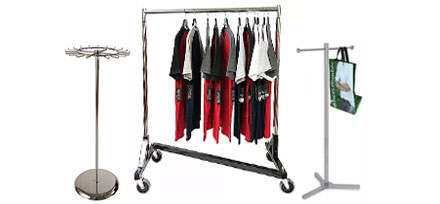 rolling racks clothes belts