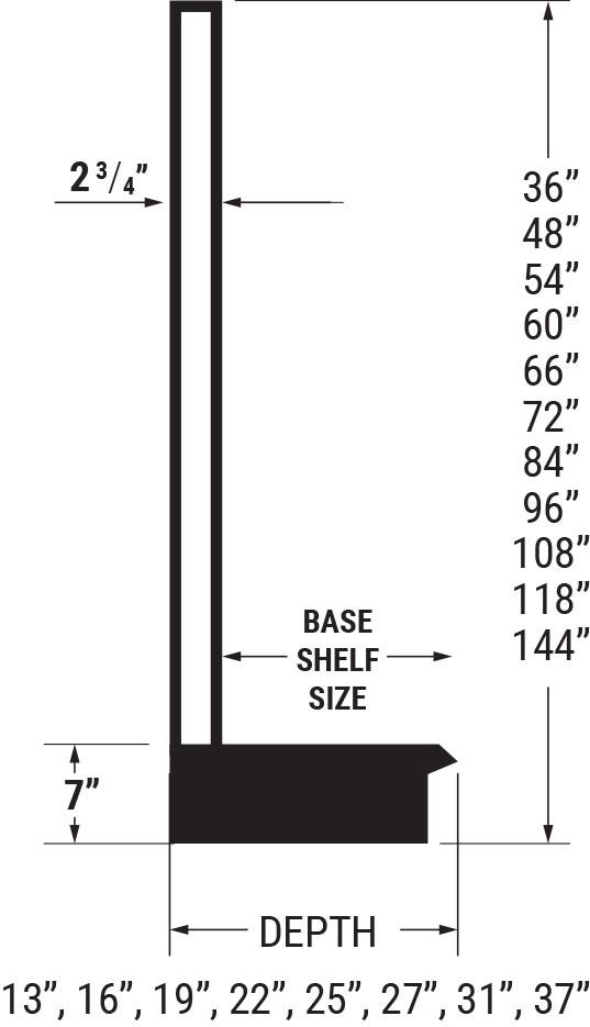 wall units sizes