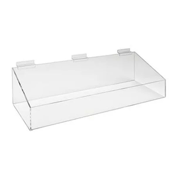 "24""x8""x3""Extra Support Tray w/ High Wall -Clear"