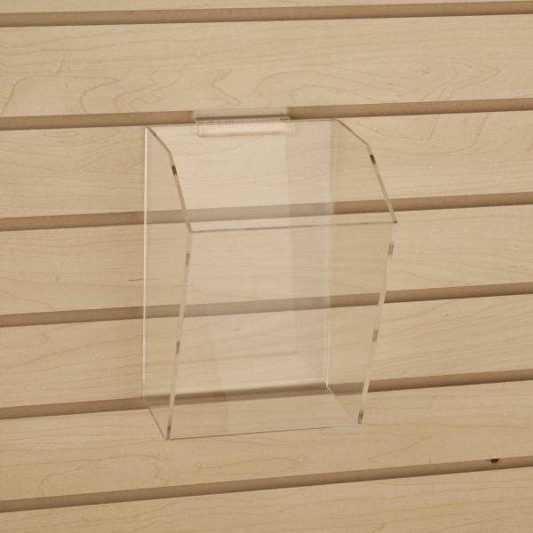 6 X 9 Clear Acrylic Dump Bin For Slatwall
