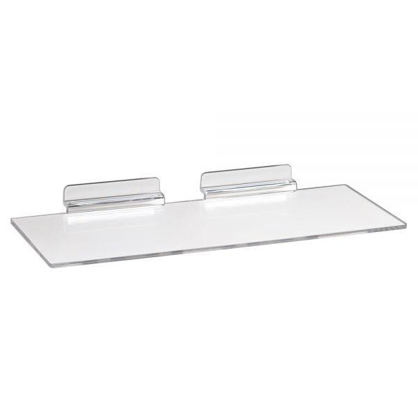 Acrylic Slatwall Shoe Shelf 4x10--
