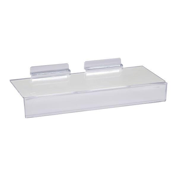 Acrylic Slatwall Shoe Shelf Sign Slot