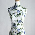 Female Flower Texture Cover Dress Form MM-1 1