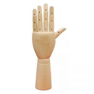Wooden Style Female Hand Display
