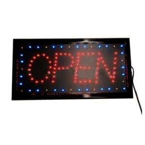 Open Sign Neon Rectangular